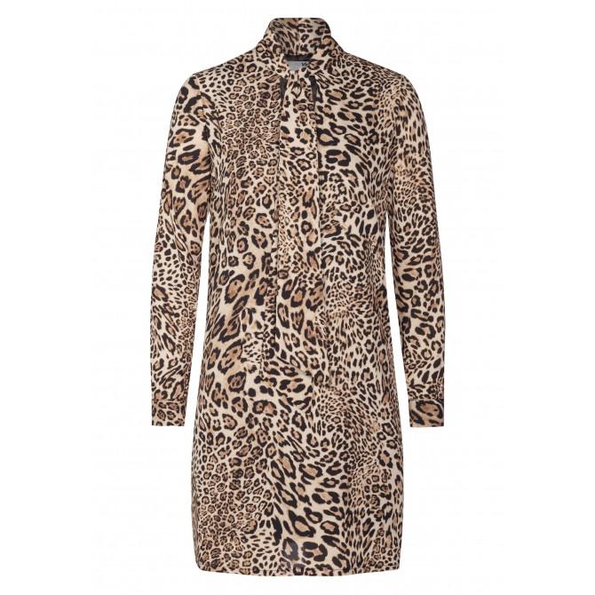 Stilvolles Kleid JANA mit extravagantem Leopardenmuster /
