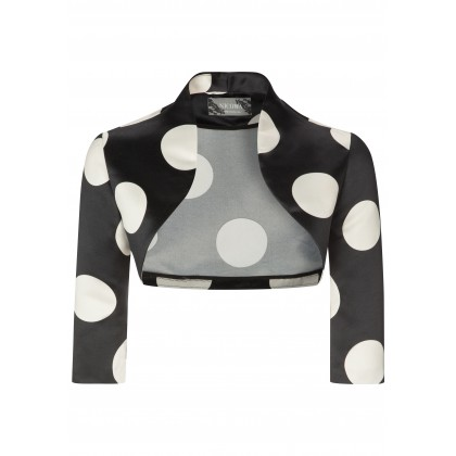 Charming ANTONIA bolero jacket with stylish dot design /