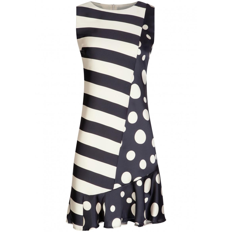 Stilvolles Kleid VICTORIA mit edlem Streifen- u...