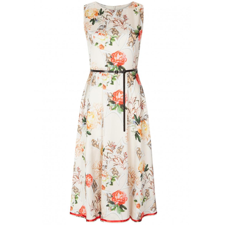 Stilvolles Kleid AVA mit edlem Blumenmuster