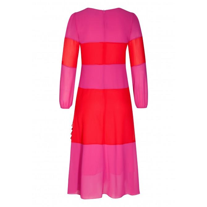 Stilvolles Kleid STELLA mit modischem Streifen-Dessin /