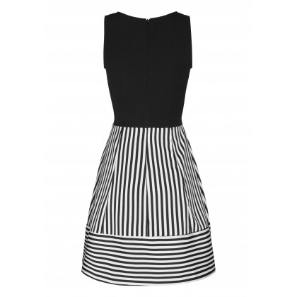 Elegantes Kleid THERESA mit stilvollem Streifen-Dessin /