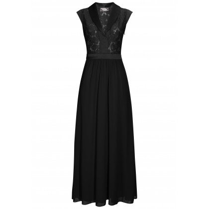 Enchanting maxi dress ALICIA with elegant lace details /