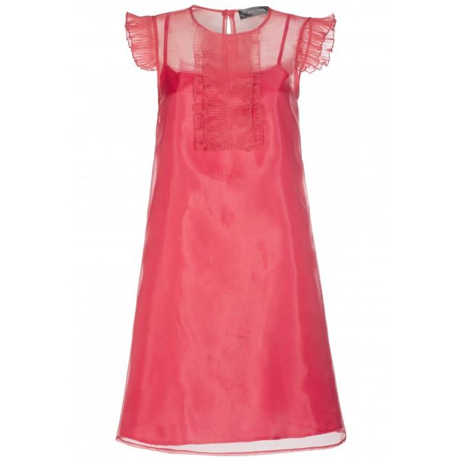 Extravagantes Kleid BASILIA in edel changierender Optik /