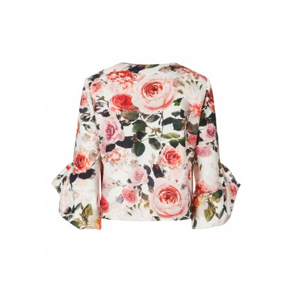 Enchanting blazer GILIA with stylish floral design /