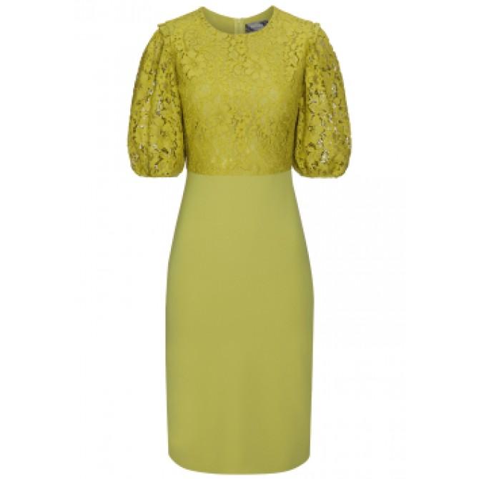 Elegantes Kleid UNA mit stilvollen Spitzen-Details /