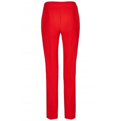 NICOWA – Klassische Hose OICONA in Rot mit Bügelfalte /