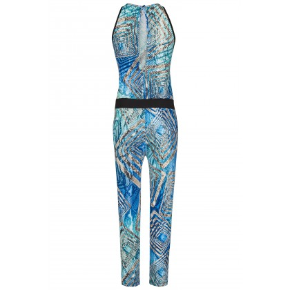 NICOWA - Body-contoured jumpsuit NALUCIA in unusual snake skin look /