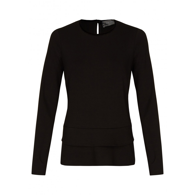 NICOWA – Sweatshirt Oberteil OGENIA mit Rüschen...