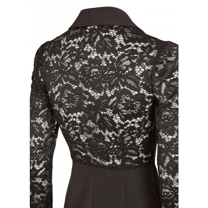NICOWA – figurbetontes Kleid AROSINA mit edlen Spitzen Einsätzen /