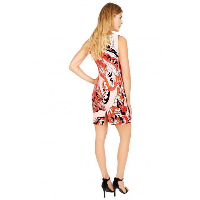 NICOWA - Figurbetontes Kleid OCREUSA mit raffiniertem Design /