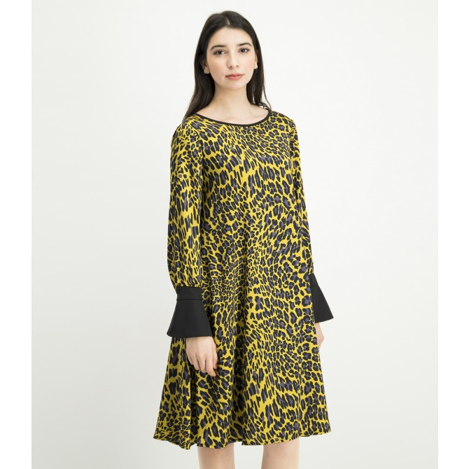 Kleid NABITA mit modischem Leopardenprint /