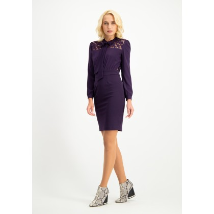 Feminin dress with lace OFLAVIA /