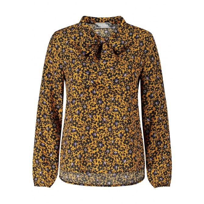 Elegante Bluse OFINITA mit floralen Dessin /
