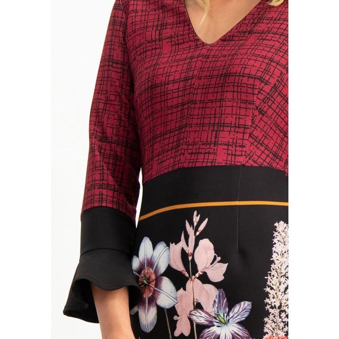 Feminines Kleid NELLERA in modernem Muster-Mix /