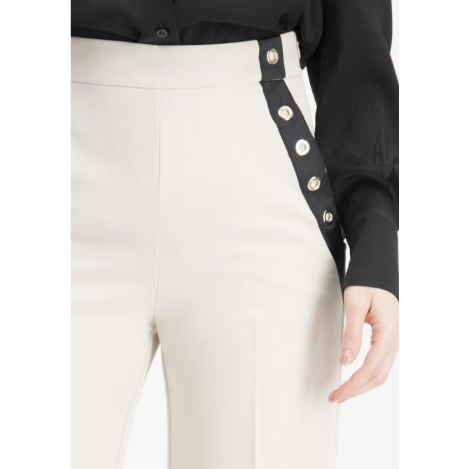 Elegante Taillenbund Hose OFIDE mit weitem Bein /