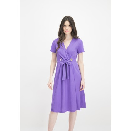 Flared ANICEN dress with refined waist /
