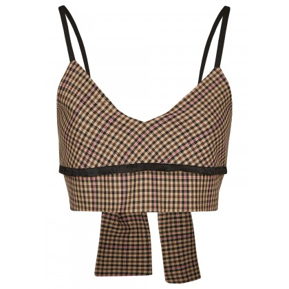 Crop top with bow fastener – NIBOLA /