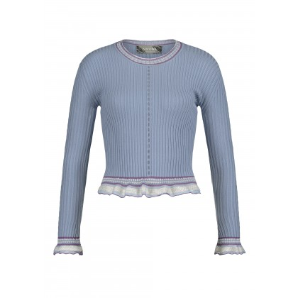 Jumper with lace details and metallic yarn – OZURA /