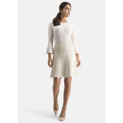 Knit skirt with openwork design – ADITA /