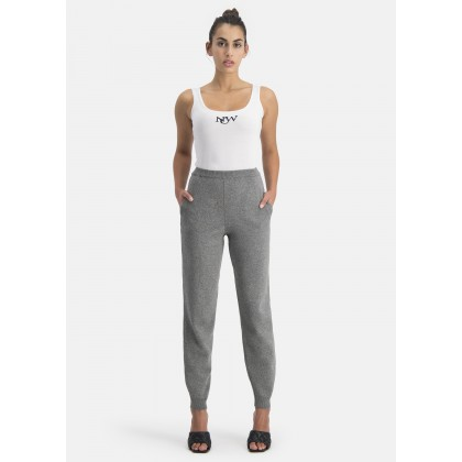 Knit jogging bottoms with ribbed cuffs – NICONA /