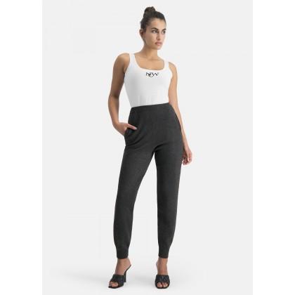 Strick-Jogginghose mit Eingrifftaschen – NICONA /